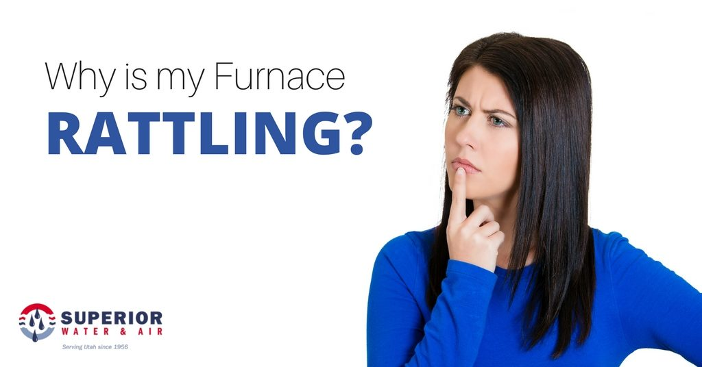 Woman wondering why her furnace is rattling